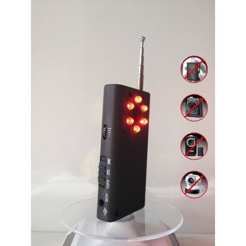 Détecteur d'espionnage radio détection d'écoute électronique sans fildétection GPS détection de signal de téléphone portable détection de radiations dangereuses détection de caméra espion