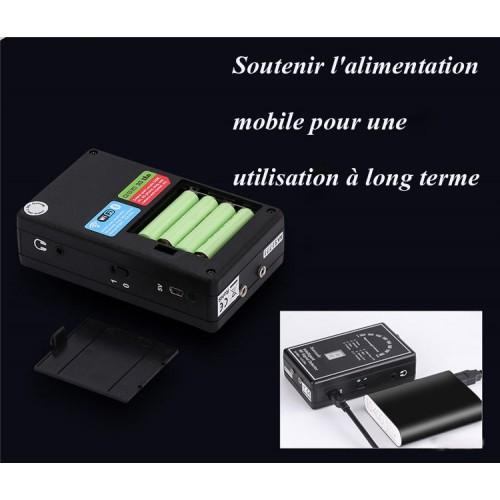 Détecteur de caméra espion radio GPS, affichage de l'intensité des ondes radio, point de référence fiable prédéfini