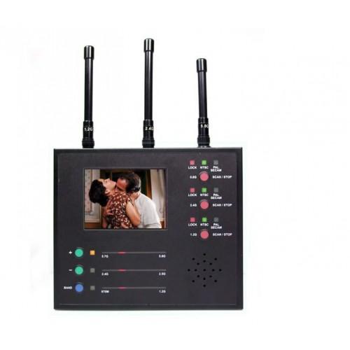 Détecteur de caméra sténopé sans fil VS-125 plage de détection 100M détection de signal de bande de 5.8 GHz peut détecter tout équipement radio détection simultanée portable multi-périphérique