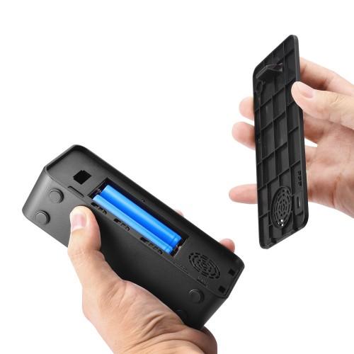 Caméra réveil PIR commande vocale affichage de l'heure et de la température vidéo HD vision nocturne HD Induction du corps humain