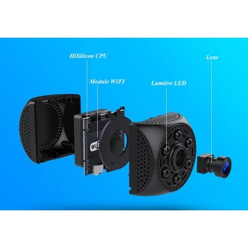 WIFI Mini caméra WIFI A10 objectif haute sensibilité bouton indépendant détection de mouvement enregistrement en boucle WIFI
