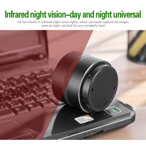 Caméra à haut-parleur Bluetooth avec vision nocturne H1 superbe qualité sonore vision nocturne superbe connexion WIFI à distance longue durée de vie de la batterie
