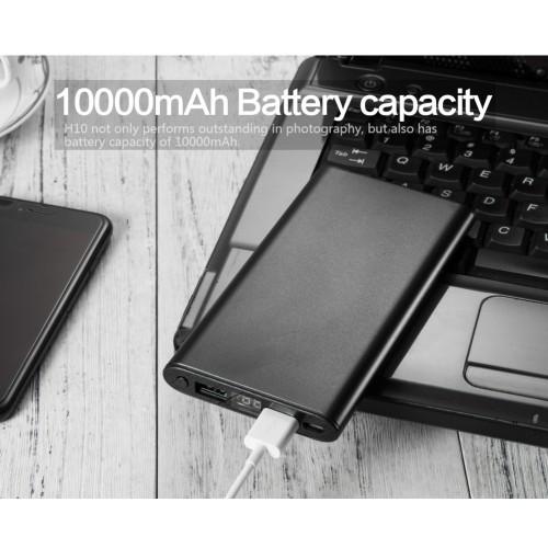 Caméra d'alimentation mobile H10-1 1080P à vision nocturne: fonctionnement à un bouton longue durée de vie de la batterie chargement latéral vision nocturne super portable