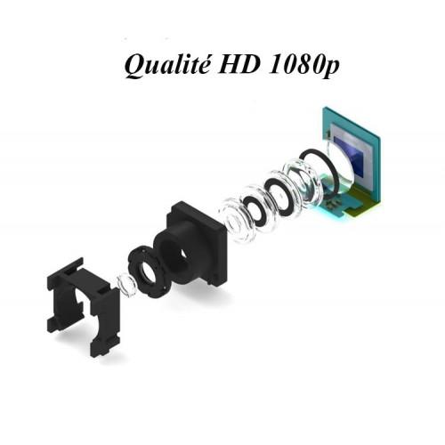 Petite caméra WIFI170 degrés objectif haute sensibilité qualité d'image 1080P autonomie de 15 heures objectif grand angle 170 ° vision nocturne super infrarouge  résolution en option