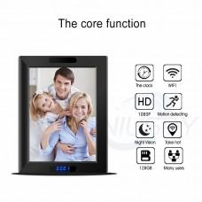 Appareil photo à cadre photo multifonction  qualité d'image haute définition 1080p  détection de mouvement  connexion WIFI  vision nocturne superbe  partage multi-utilisateurs   mesure de la température