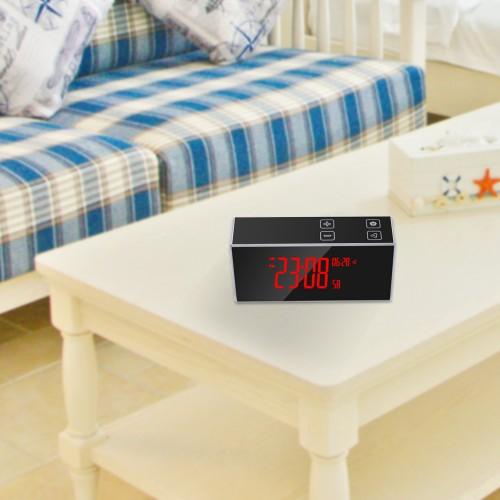 Caméra d'alarme cachée affichage de la date détection de la température qualité HD 1080p vision nocturne superbe détection de mouvement enregistrement non-stop