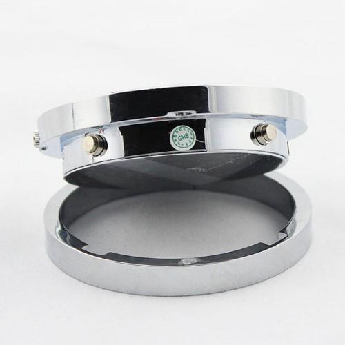 Acier inoxydable blanc argenté Horloge caméra espion Tour Matériel en métal Contrôle du son Photo USB