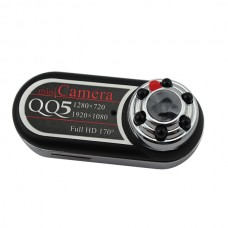 QQ5 Full HD 12MP 170 'Détecteur de mouvement à très grand-angle Caméra caméscope infrarouge pour vision nocturne Caméra DV