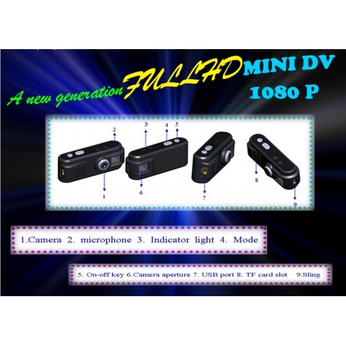 GT-05 Full HD 1080P 12MP Détecteur de mouvement Spy Mini DV Caméscope Webcam