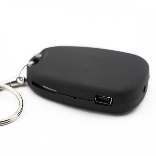 Compact high-sensitivity Porte clé Caméra espion full-day video long battery life